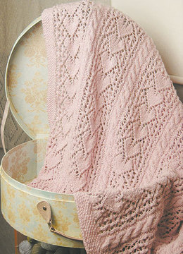 Heirloom Hearts Baby Blanket in knit One Crochet Too Cozette - 1986 - Downloadable PDF