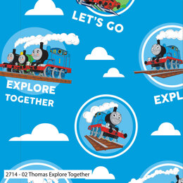 Craft Cotton Company Thomas and Friends Classic - Thomas Explore Together