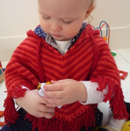 Baby Poncho 'Little Stripe'