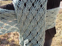 Crochet Lace Stole: Shelly