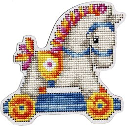 RTO Hobby Horse Cross StitchKit W/Plywood Form - 3.74in x 3.54in