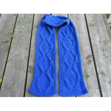 Textured Medallion Scarf