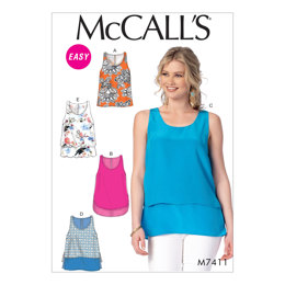McCall's Misses' Tops M7411 - Sewing Pattern