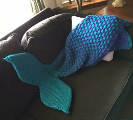 Two Color Mermaid Tail Blanket