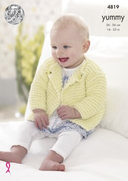 Cardigans & Blanket in King Cole Yummy - 4819 - Downloadable PDF