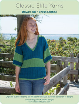 Daydream Pullover in Classic Elite Yarns Solstice - Downloadable PDF