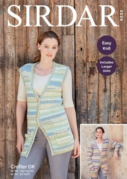 Cardigan and Waistcoat in Sirdar Crofter DK - 8222 - Downloadable PDF