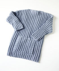 Ribbed Sweater in Lion Brand Cotton-Ease - 70136AD