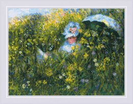 Riolis In The Meadow Cross Stitch Kit - Monet - 40cm x 30cm