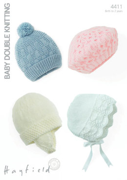 Hats and a Beret in Hayfield Baby DK - 4411