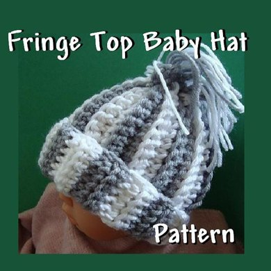 Fringe Top Baby and Adult Hat | Crochet Hat Pattern by Ashton11