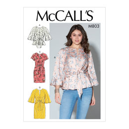 McCall's Misses' Tops and Dresses M7803 - Sewing Pattern