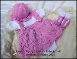 """Frilled Skirt all in one Romper Set 16-22"""" doll/preemie-3m+ baby"""