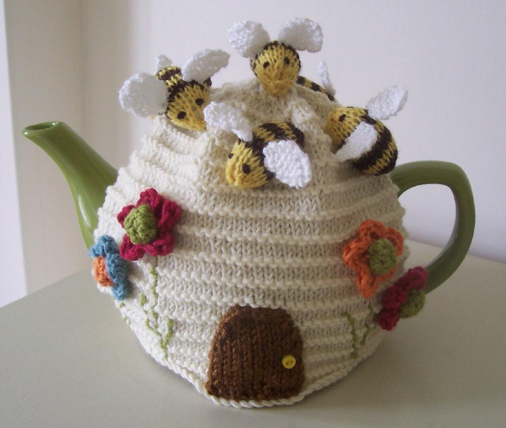 tea cosy template - busy bees tea cosy knitting crochet pattern by buzybee
