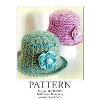 Crochet Hat Ripple Uk British Crochet Pattern By Barbara Summers