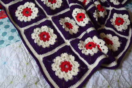 Maybelle Dk Granny Square Blanket Crochet Project By Lorraine A
