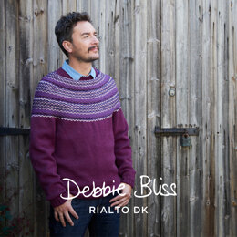 """ Robyn "" - Jumper Knitting Pattern For Men in Debbie Bliss Rialto DK by Debbie Bliss"