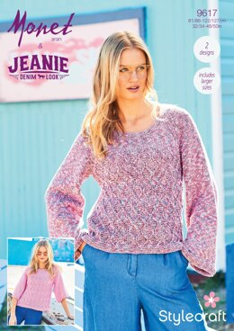 Sweaters in  Stylecraft Monet and Jeanie - 9617 - Downloadable PDF