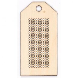 Rico Wooden Pendant To Stitch, Rectangle