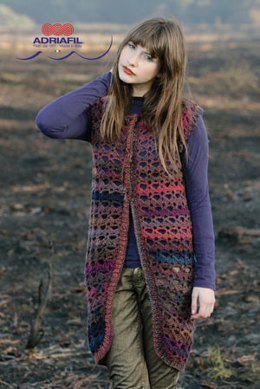 Winona Gilet in Adriafil Mistero - Downloadable PDF