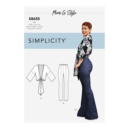Simplicity 8655 Mimi G High Waisted Trousers and Tie Top - Sewing Pattern