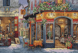 Dimensions European Bistro Cross Stitch Kit - 41cm x 28cm