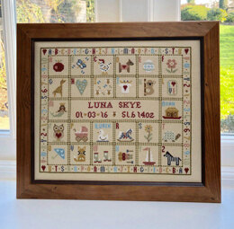 Historical Sampler Company T is for Tortoise Birth Sampler Cross Stitch Kit - Multi