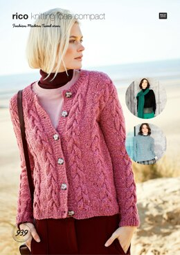 Sweater, Cardigan and Scarf in Rico Fashion Modern Aran - 939 - Downloadable PDF