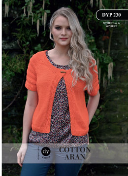 Short Sleeved Cardigan in DY Choice Cotton Aran - DYP230