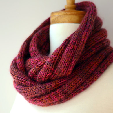 Five By Five Ribbed and Looped Infinity Cowl in ...