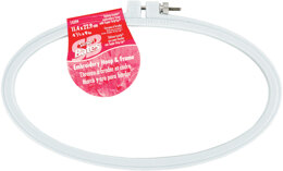Bates Plastic Embroidery Hoop - Light Blue 4.5inx9in
