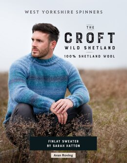 Finlay Sweater in West Yorkshire Spinners The Croft Wild Shetland - WYS0020 - Downloadable PDF