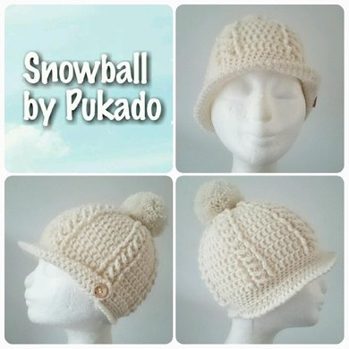Snowball Cable Hat