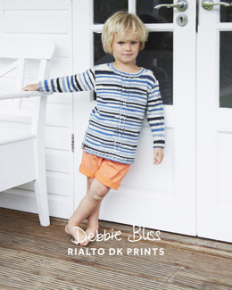"""Cable Detail Jumper"" - Jumper Knitting Pattern For Boys in Debbie Bliss Rialto DK Prints"