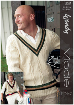 Cricket Sweater And Slipover In Wendy Mode DK - 5332
