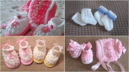 Olivia Shoes, Bonnet and set of 3 Socks Newborn to 0-6mths approx