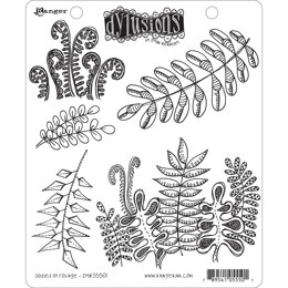 """Ranger Dyan Reaveley's Dylusions Cling Stamp Collections 8.5""""X7"""" - Oodles Of Foliage"""