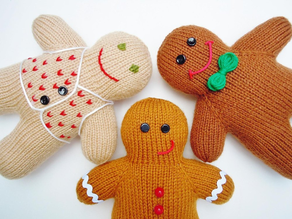 Gingerbread Blanket Knitting Pattern : Gingerbread Boy Knitting pattern by Sara Elizabeth Kellner