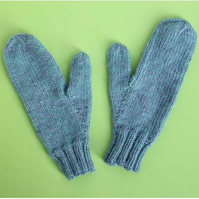 Simple Mittens Knitting pattern by The New Craft House