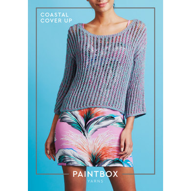 Coastal Cover Up : Knitting Pattern for Women in Paintbox Yarns DK | Light Worsted Yarn