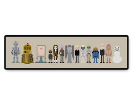Doctor Who Villains and Monsters - PDF Cross Stitch Pattern