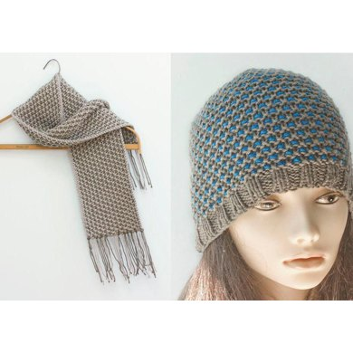 Mosaic Color Work Hat And Scarf Knitting Pattern By Judith Stalus