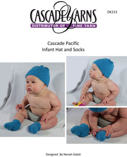 Infant Hat & Socks Cascade Pacific - DK213