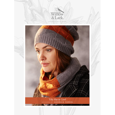 Tilly Hat & Cowl in Willow and Lark Ramble - Downloadable PDF