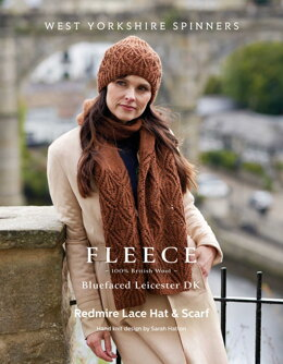 Redmire Lace Hat & Scarf in West Yorkshire Spinners Bluefaced Leicester DK - DBP0181 - Downloadable PDF