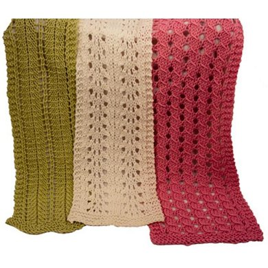 Barbara, Ruth and Leona Easy Lace Scarves