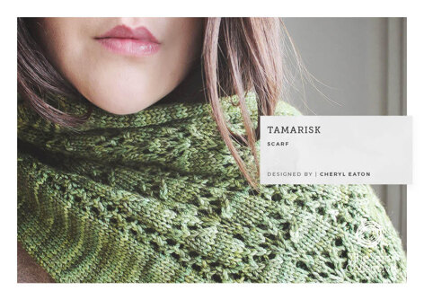 Tamarisk Scarf -  Scarf Knitting Pattern For Women in The Yarn Collective Bloomsbury DK by Cheryl Eaton