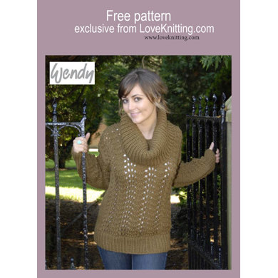 Feather and Fan Lace Jumper in Wendy Mode Chunky