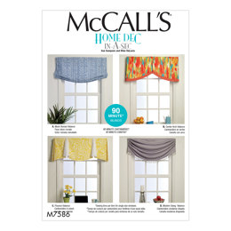 McCall's Window Valances M7586 - Sewing Pattern