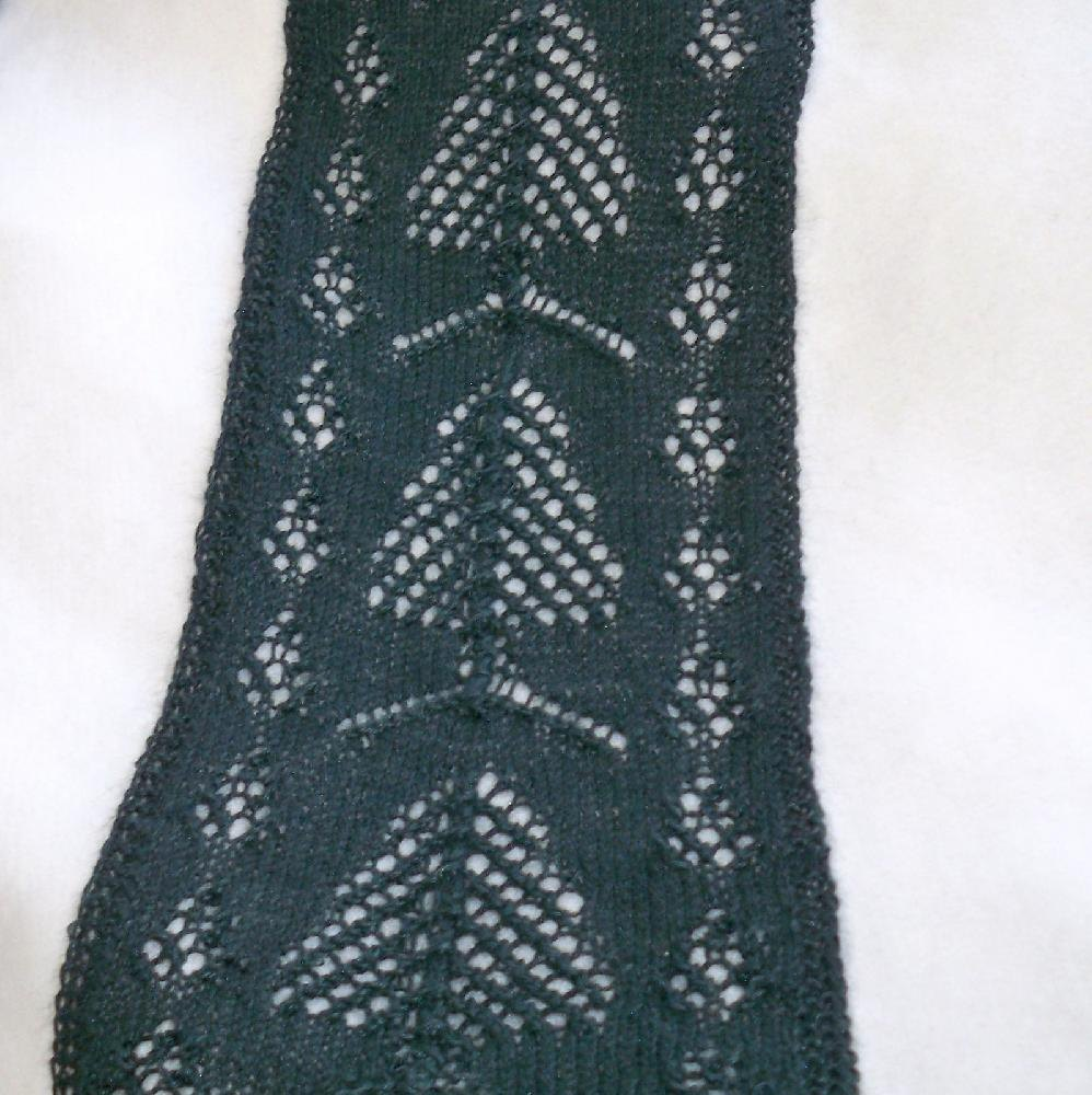 Pine trees and cones scarf or scoodie knitting pattern by zoom bankloansurffo Images